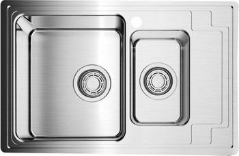 Кухонная мойка OMOIKIRI Mizu 78-2-L нержавеющая сталь (4973012)