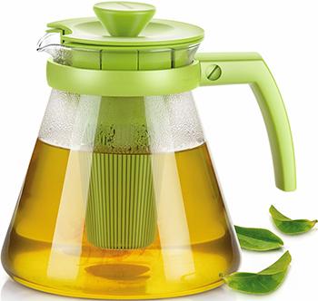 Фото - Чайник Tescoma TEO 1.25л с ситечками для заваривания зеленый 646623 25 стеклянный чайник teo 1 25 л с ситечками для заваривания