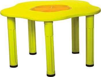 Столик King Kids ''Сэнди'' с системой хранения мелочей Желтый KK_KM 1200_Y столик king kids сэнди с системой хранения мелочей цвет зеленый kk km 1200 g