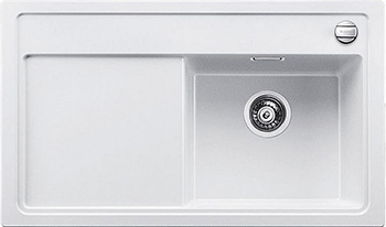 Кухонная мойка Blanco 523889 ZENAR XL 6S-F чаша справа SILGRANIT белый с кл.-авт. InFino кухонная мойка blanco zenar xl 6s чаша справа silgranit шампань с кл авт infino 523950