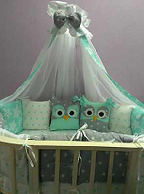 Комплект постельного белья Sweet Baby Uccellino Turchese комплекты в кроватку makkaroni kids sweet baby 125x65 6 предметов