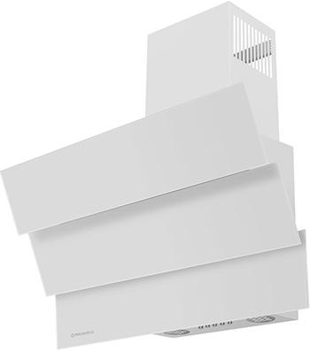 лучшая цена Вытяжка MAUNFELD CASCADA MINI 60 Белое стекло