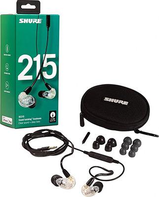 Вставные наушники Shure SE 215-CL-UNI-EFS прозрачный наушники shure se215 cl прозрачный
