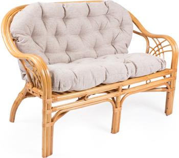Диван RattanDesign ROMA МИ с подушкой. JC-1732 цвет Мёд