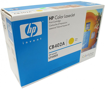 Картридж HP CB 402 A Желтый