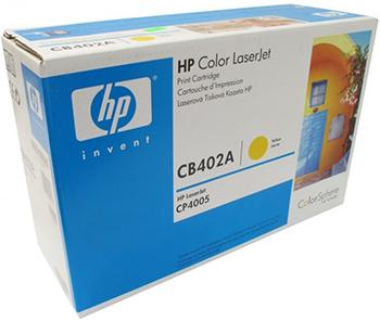 цена Картридж HP CB 402 A Желтый онлайн в 2017 году