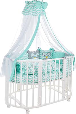 Комплект постельного белья Sweet Baby 424 474 Civetta Verde (Мятный) 10 пр комплект в кроватку sweet baby uccellino turchese 420985 бирюзовый 10 предметов