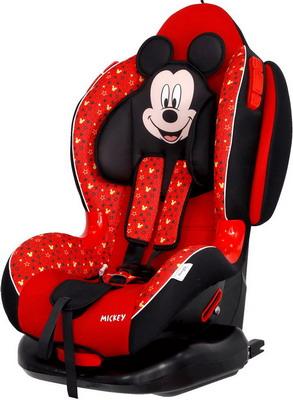 Автокресло Siger серия Disney Кокон ISOFIX гр. I/II Микки Маус звезды красный KRES2662