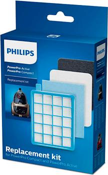 Набор сменных фильтров Philips FC8058/01 синий белый фильтр для пылесосов philips fc8058 01