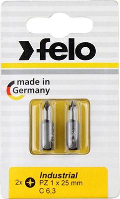 Бита крестовая Felo PZ 2X25 серия Industrial 02102036