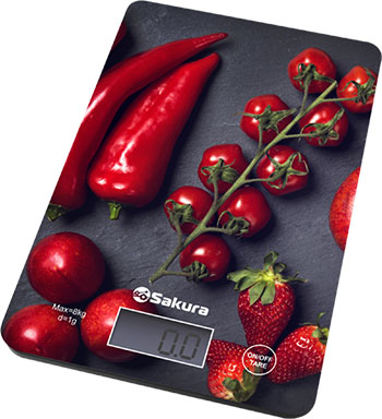 Весы кухонные электронные Sakura SA-6077BS