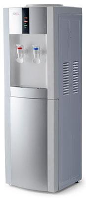Кулер для воды напольный AEL LD-AEL-47c white/silver с шкафчиком