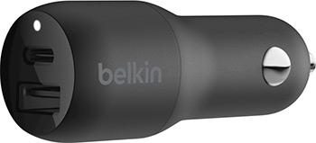 Автомобильное зарядное устройство Belkin 30 Вт USB-C USB PD (F7U100btBLK) автомобильное зарядное устройство partner 2 1a microusb usb черный пр033116