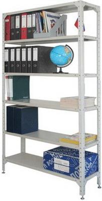 Стеллаж металлический Универсал (в2000*ш1000*г300мм) 6 полок в комплекте регулир. опоры 290144