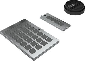 Комплект Bosch для работы вытяжки в режиме циркуляции воздуха DWZ0AK0R0 (17000786) комплект bosch cleanair для работы вытяжки в режиме циркуляции воздуха