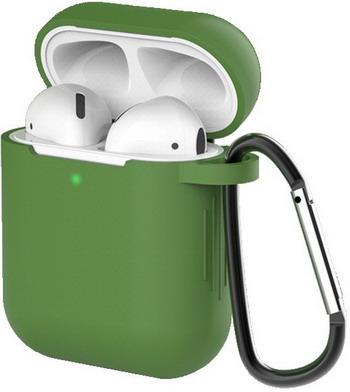 Фото - Чехол для наушников Eva для Apple AirPods 1/2 с карабином - Зеленый (CBAP40GR) сифон для душевого поддона unicorn easyopen с латунным выпуском 1 1 2 d40 с отводом g311e
