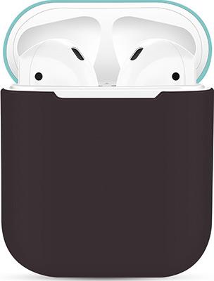 Фото - Чехол силиконовый Eva для наушников Apple AirPods 1/2 - Коричневый/Бирюзовый (CBAP03BRTQ) printio коричневый камуфляж