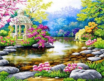 Фото - Алмазная мозаика Цветной ''Очарование природы'' (40х50) на подрамнике lg003 алмазная мозаика цветной букет нежных цветов 40х50 на подрамнике lg104