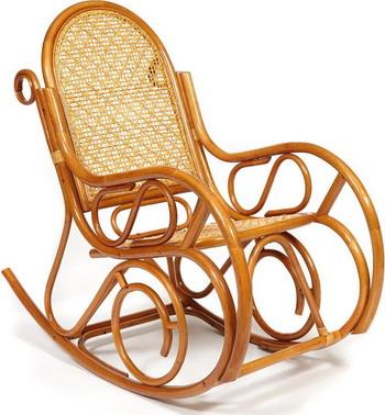 Кресло-качалка Tetchair MILANO (разборная) / без подушки ротанг top quality 58x136x103 см Cognac (коньяк) 13273