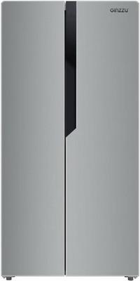 Холодильник Side by Side Ginzzu NFK-420 серебристый холодильник ginzzu nfk 510 gold glass