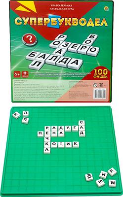 Игры в слова Рыжий кот 100 фишек. Супербукводел ИН-1802