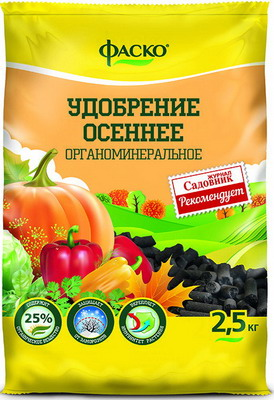 Удобрение Фаско органоминеральное Осень гранулированное 2 5 кг Уд0102ФАС29 удобрение robin green лето осень 5 кг