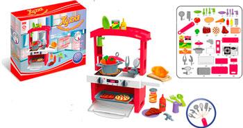цена на Набор игровой Zhorya с аксессуарами Кухня 45 элементов красная