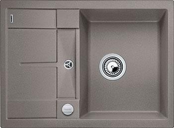 Кухонная мойка BLANCO METRA 45 S COMPACT SILGRANIT серый беж с клапаном-автоматом мойка кухонная blanco metra 6 s compact алюметаллик с клапаном автоматом 513553