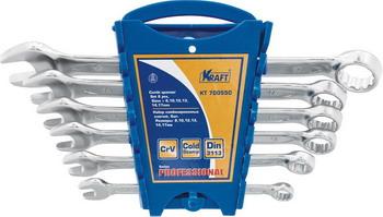 Набор комбинированных ключей Kraft KT 700550 набор комбинированных ключей kraft master с держателем 9 предметов