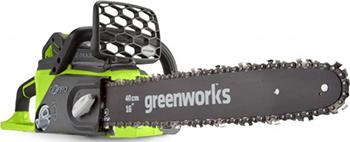 Цепная пила Greenworks GD 40 CS 40 K4 20077 UB воздуходувка пылесос greenworks gd 40 bvk4 24227 ub