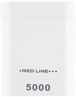 Внешний аккумулятор Red Line S5000 (5000 mAh) белый red line b8000 pink gold внешний аккумулятор 8 000 mah