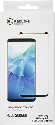 Защитный экран Red Line Samsung Galaxy A01 Full screen tempered glass FULL GLUE черный защитный экран для redmi 7 red line full screen черный