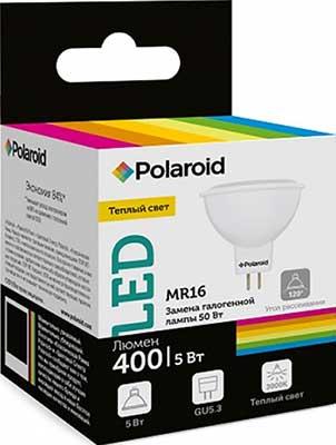 Лампа светодиодная Polaroid 220V MR16 5W 3000K GU5.3 400lm