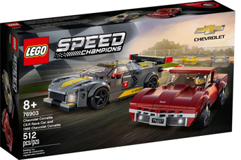 Фото - Конструктор Lego Speed Champions ''Chevrolet Corvette C8.R and 1968 Chevrolet Corvette'' lego lego speed champions mopar dodge srt dragster and 1970 dodge challenger t a