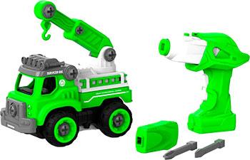 Конструктор SHANTOU BHX TOYS CO подъемный кран с пультом ДУ зеленый BHX TOYS CJ-1365130
