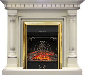 Каминокомплект Royal Flame Dallas с очагом Majestic BR сл.кость каминокомплект royal flame dallas с очагом majestic bl тем дуб