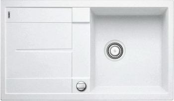 Кухонная мойка BLANCO METRA 5 S-F белый с клапаном-автоматом кухонная мойка blanco metra 6 s f белый с клапаном автоматом