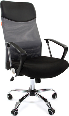 Офисное кресло Chairman 610 15-21 черный + TW серый офисное кресло chairman 610 черный оранжевый