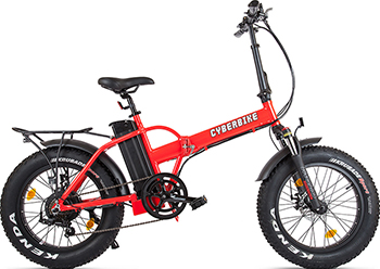 цена на Велогибрид Eltreco Cyberbike 500 Вт Красно-черный 019282-1857