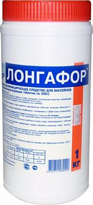 Средство для очистки Маркопул ЛОНГАФОР Кемиклс 1кг банка табл.200гр М16 лен сантехнический 200гр