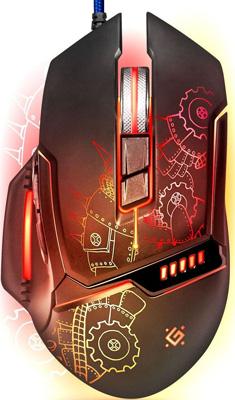 Проводная игровая мышь Defender Defender Kill'em All GM-480 L 52480 цена и фото