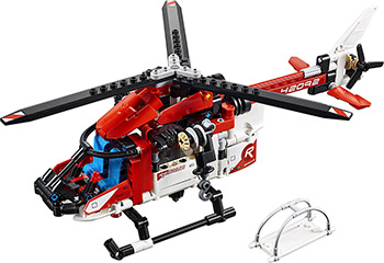 Конструктор Lego TECHNIC Спасательный вертолёт 42092