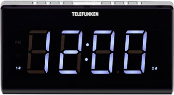 Радиочасы Telefunken TF-1525 (черный с белым)