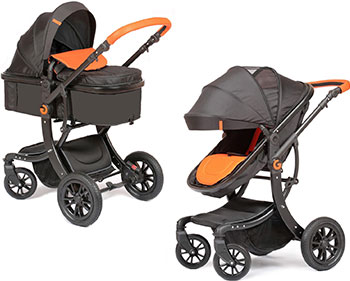Коляска Giovanni 2в1 G-Moov цвет Black/Orange (Черный/Оранж) GS 9600-52 цена