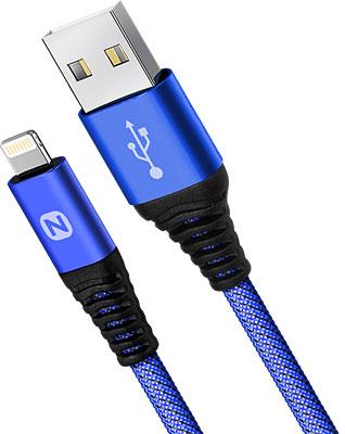 Фото - Кабель Nobby Comfort Lightning 1 м 2А синий NBС-DC-L-10 кабель брелок lightning синий