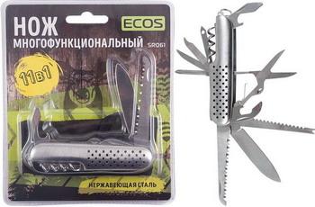 Нож многофункциональный Ecos SR061 11 в 1 серебристый 325111 нож складной ножемир длина 9 см