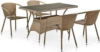 цена на Комплект мебели 4 и 1 Афина T198D/Y137C-W56 Light Brown