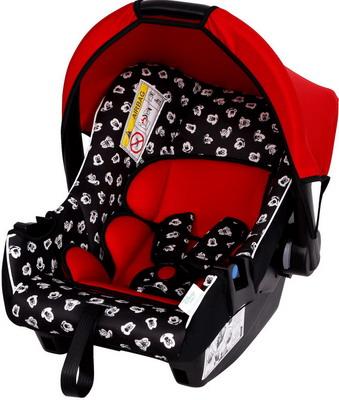 Автокресло Siger серия Disney baby Эгида гр.0плюс Люкс Микки Маус мим красный KRES2656