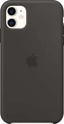 Чехол силиконовый Apple Silicone Case для iPhone 11 Black MWVU2ZM/A аксессуар чехол snoogy creative silicone 0 3mm для apple iphone 5 black