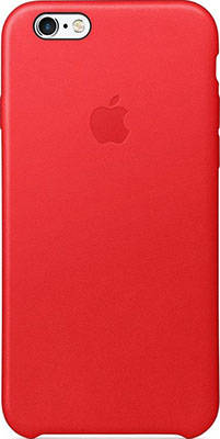 Чехол кожаный Apple Leather Case для IPHONE 6s RED(красный) MKXX2ZM/A стоимость